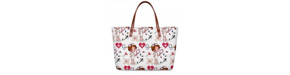 bolsos y bolsas de enfermera diseños estampados